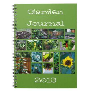 Cuaderno del diario del jardinero