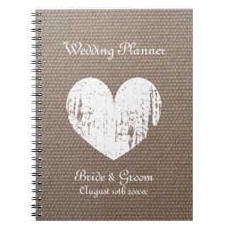 Cuaderno del diario del organizador del