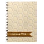 Cuaderno del diario del panal de las abejas