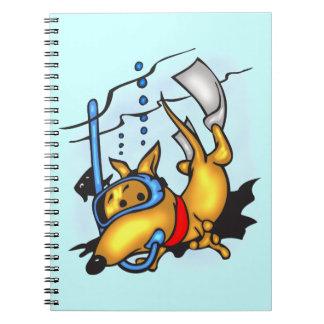 Cuaderno del diario del perro del dibujo animado