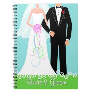 Cuaderno del diario del planificador del boda de l