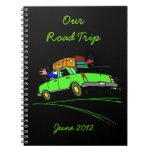 Cuaderno del diario del planificador del viaje por