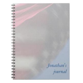 Cuaderno del diario del remolino de la bandera de