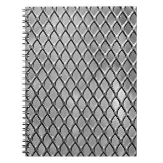 Cuaderno del diseño de la malla metálica