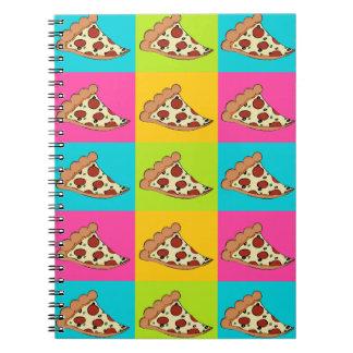 Cuaderno del diseño de la pizza