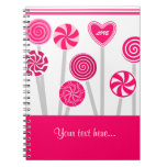 Cuaderno del diseño de los Lollipops del corazón