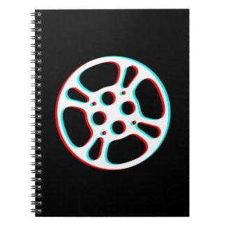 Cuaderno del efecto del rollo de película 3D