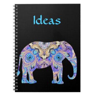 Cuaderno del elefante del caleidoscopio