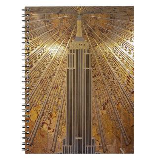 Cuaderno del Empire State Building del art déco