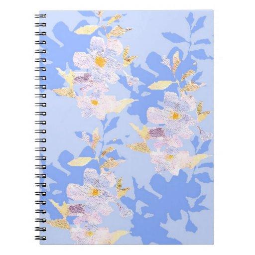 Cuaderno del estampado de flores