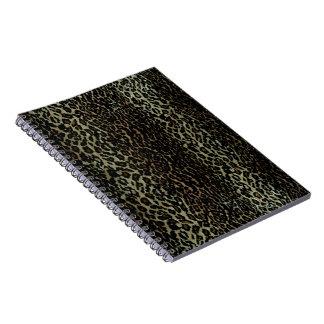 Cuaderno del estampado leopardo