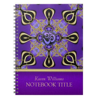 Cuaderno del este púrpura de las inspiraciones de