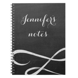 Cuaderno del estilo de la pizarra