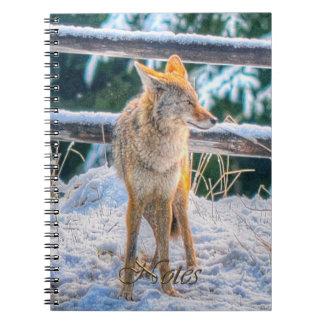 Cuaderno del Fauna-partidario del coyote de la