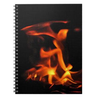 Cuaderno del fuego del baile