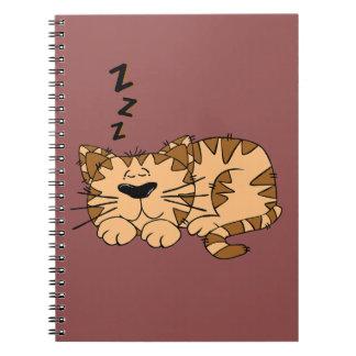 Cuaderno del gatito de la siesta del gato