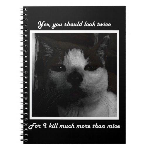 Cuaderno del gatito del demonio