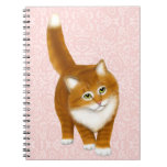 Cuaderno del gatito del Tabby del naranja dulce