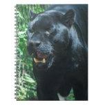 Cuaderno del gato de pantera negra