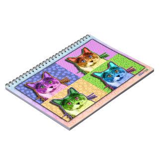 Cuaderno del gato del arte pop