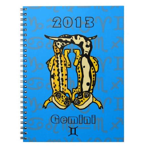 """""""Cuaderno del Gecko del leopardo del zodiaco de lo Libreta Espiral"""