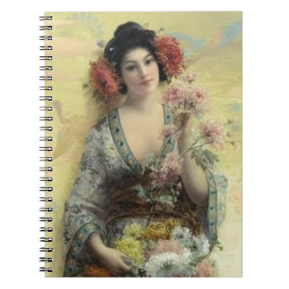 Cuaderno del geisha del vintage