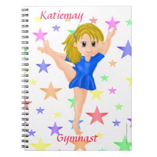 Cuaderno del gimnasta del chica