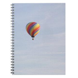 Cuaderno del globo del aire caliente