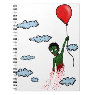 Cuaderno del globo del zombi