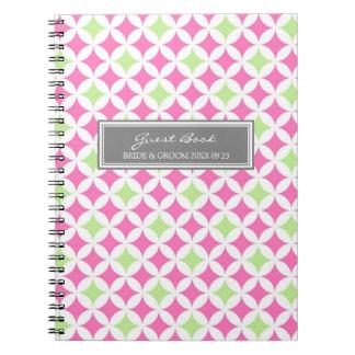 Cuaderno del gris de la cal del rosa del libro de