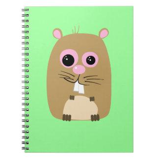 Cuaderno del hámster del dibujo animado
