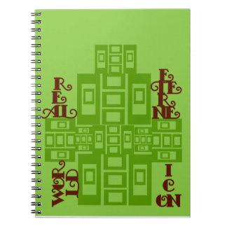 Cuaderno del icono del mundo real