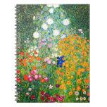 Cuaderno del jardín de flores de Gustavo Klimt