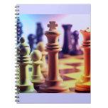 Cuaderno del juego de ajedrez