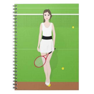 Cuaderno del jugador de tenis