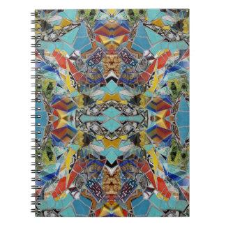 Cuaderno del LA de las tejas de mosaico