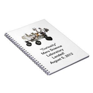 Cuaderno del laboratorio de ciencia de Marte de la