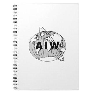 Cuaderno del logotipo de AIW