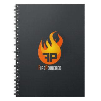 Cuaderno del logotipo de FirePowered