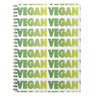 Cuaderno del logotipo del vegano
