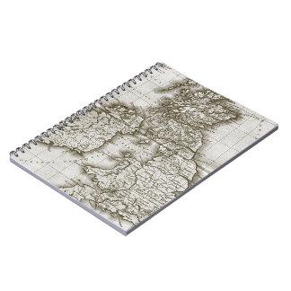 Cuaderno del mapa de la antigüedad del Viejo Mundo
