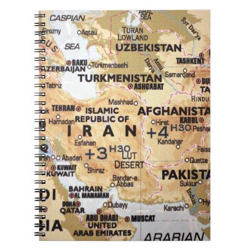 Cuaderno del mapa de Oriente Medio