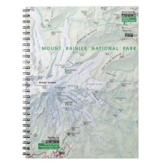 Cuaderno del mapa del Monte Rainier