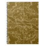 Cuaderno del mapa del mundo