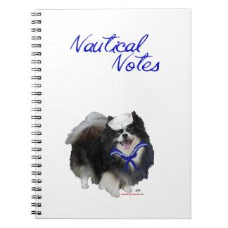 Cuaderno del marinero de Pomeranian