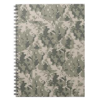 Cuaderno del modelo de Digitaces del camuflaje del