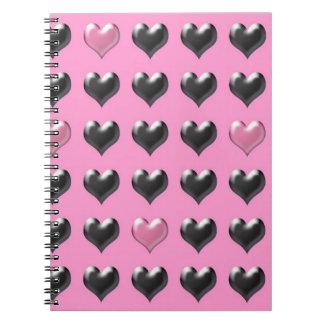 Cuaderno del modelo de la tarjeta del día de San V