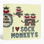 cuaderno del mono del calcetín
