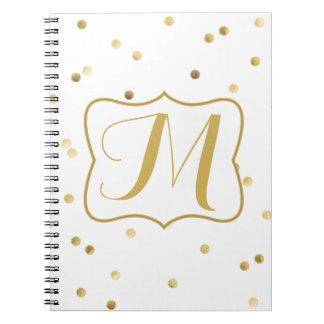 Cuaderno del monograma de la polca del punto del