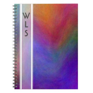 Cuaderno del monograma de la salida del sol